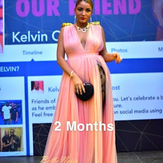 #BBNaija's Gifty shows off her bump at different stages of pregnancy