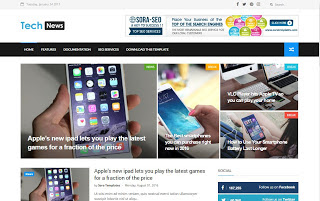 Tech News шаблоны для blogger