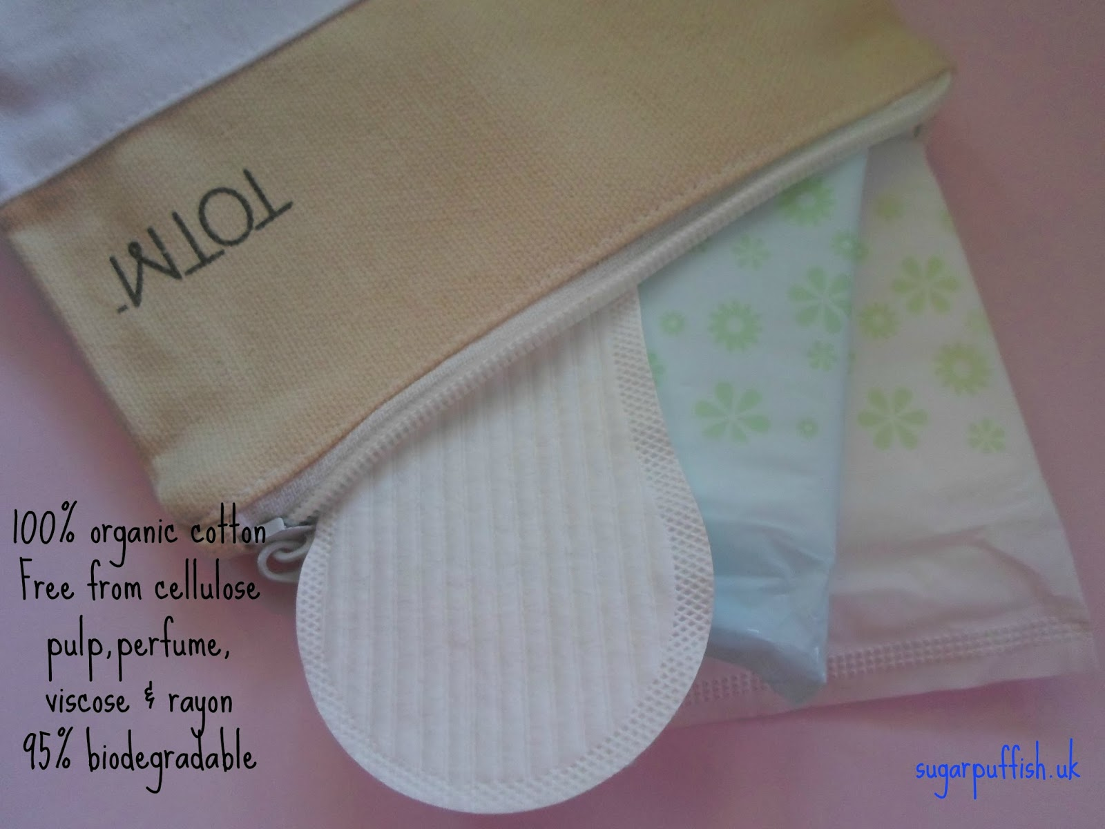 TOTM organic cotton sanitary products