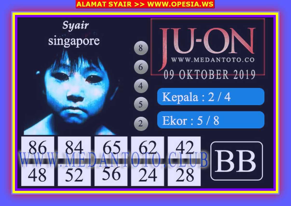 Kode syair Singapore Rabu 9 Oktober 2019 58