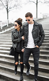 Gambar Model Jaket Semi Kulit Couple