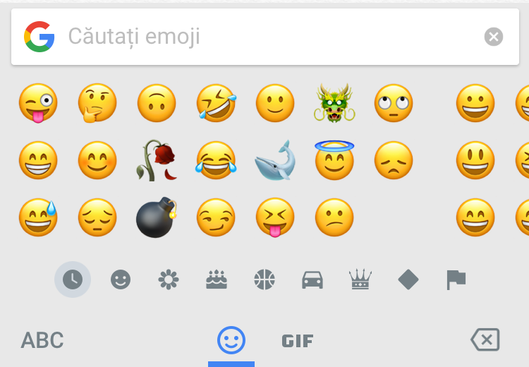 iPhone Gboard emoji keyboard