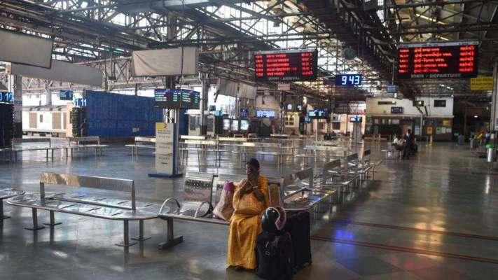 Covid pandemic, Mumbai, Maharashtra railway station