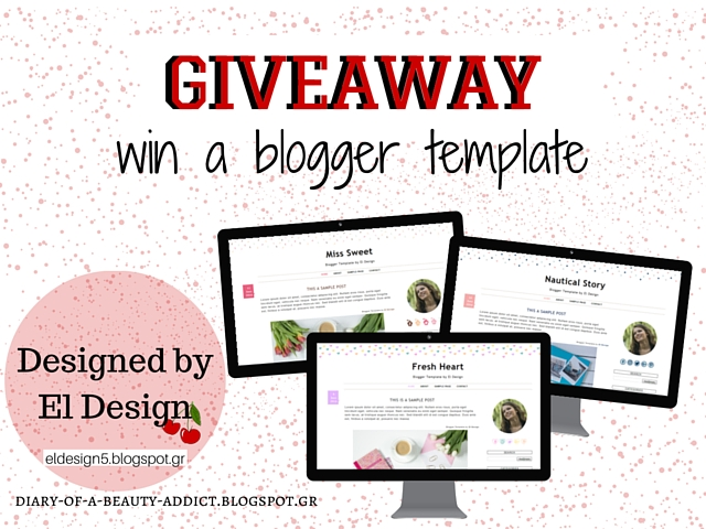 Κέρδισε ένα Πρότυπο Blogger σχεδιασμένο απλό το El Design | Giveaway: Win A Blogger Template