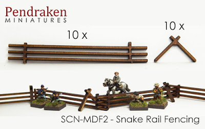 SCN-MDF2    Snake rail fencing x 10 lengths