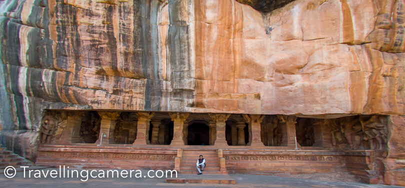 Badami Fort was built by Tipu Sultan in 18th century and it has few watchtowers and 2 shiavalayas. Few other essential things include Durga Temple, Lad Khan Temple, Ravanaphadi Cave Temples, Huchimalli Temple, Meganagudi group of temples, Gowda Temple & lot others.  Badami was earlier known as Vatapi and is a historically significant place with a lot of heritage structures.   Badami was the capital of the Chalukyas. The Badami Fort was the residence of the Chalukyan rulers. The fort was acquired and destroyed by the Pallavas later on. Much later, when Badami came under the rule of Tipu Sultan, the walls of the fort were rebuilt and several structures were added to the ancient fort complex. When you are in this part of India, you will find various structures built, rebuilt or changed by Tipu Sultan. During the trip to Badami, our guides shared a lot about how various kingdoms played role in Karnataka state, but I feel like doing a revision either through another visit or finding a good documentary on this.