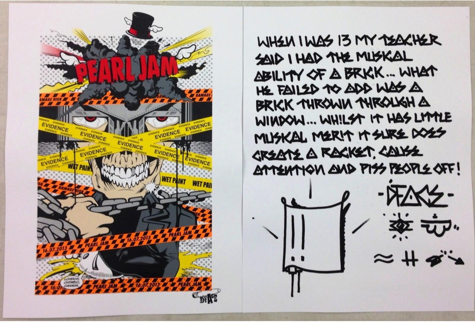 Inside The Rock Poster Frame Blog Pearl Jam London Ontario Dface