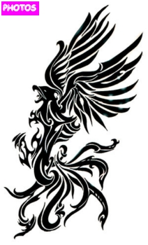 tribal phoenix tattoo designs 11