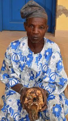 Photos: 72 year old man apprehended with female human skull in Osun
