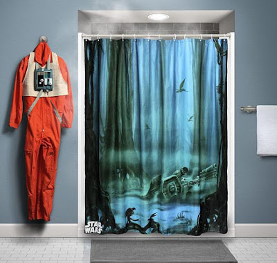 Starwars Inspired Shower Curtain