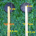 2 Natural Handcrafted Coconut Shell Spoon with Wood Hand Stick 21cm length