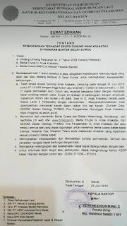 Erupsi Gunung Anak Krakatau Lampung