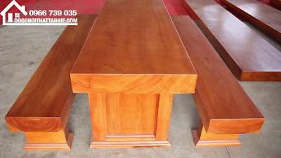 bàn 3 tấm gỗ sao - bàn ba lá gỗ sao - bàn ba tấm ở huế