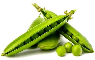 Foto de alverjas, hortaliza color verde