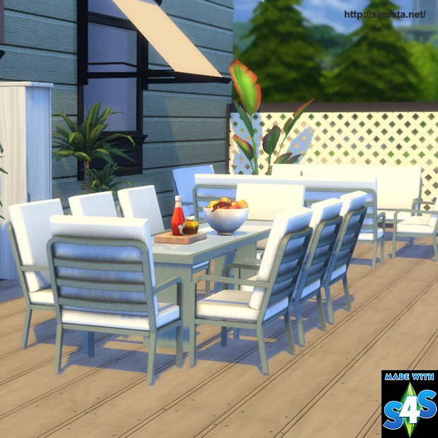 Sims 4 CC's - The Best: Outdoor Living and Dining Set by ... on Cc Outdoor Living id=87885