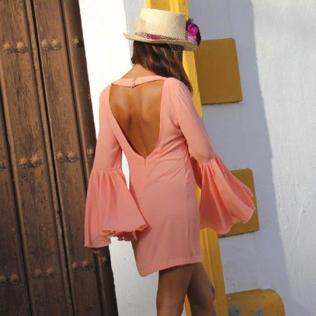 invitada boda blog look estilo volante falda vestido ruffle dress