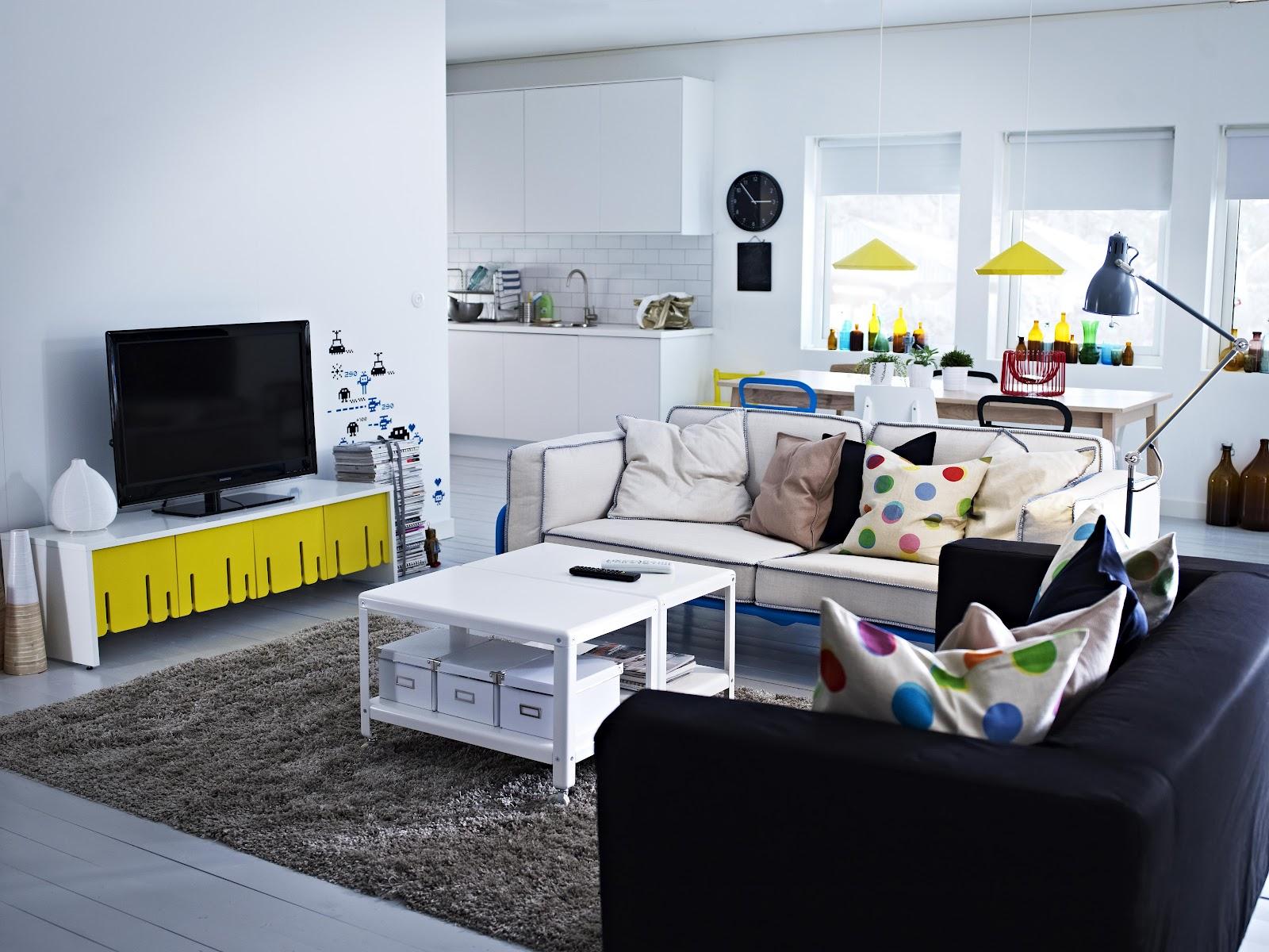 decor me nuevo cat logo ikea 2013 salones con color. Black Bedroom Furniture Sets. Home Design Ideas