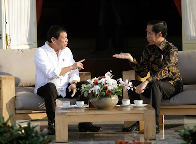 President Rodrigo Duterte, left, and President Joko Widodo.