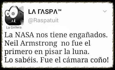 La Nasa nos tiene engañados, Neil Armstrong no fue el primero en pisar la luna, lo sabéis, fue el cámara, coño!