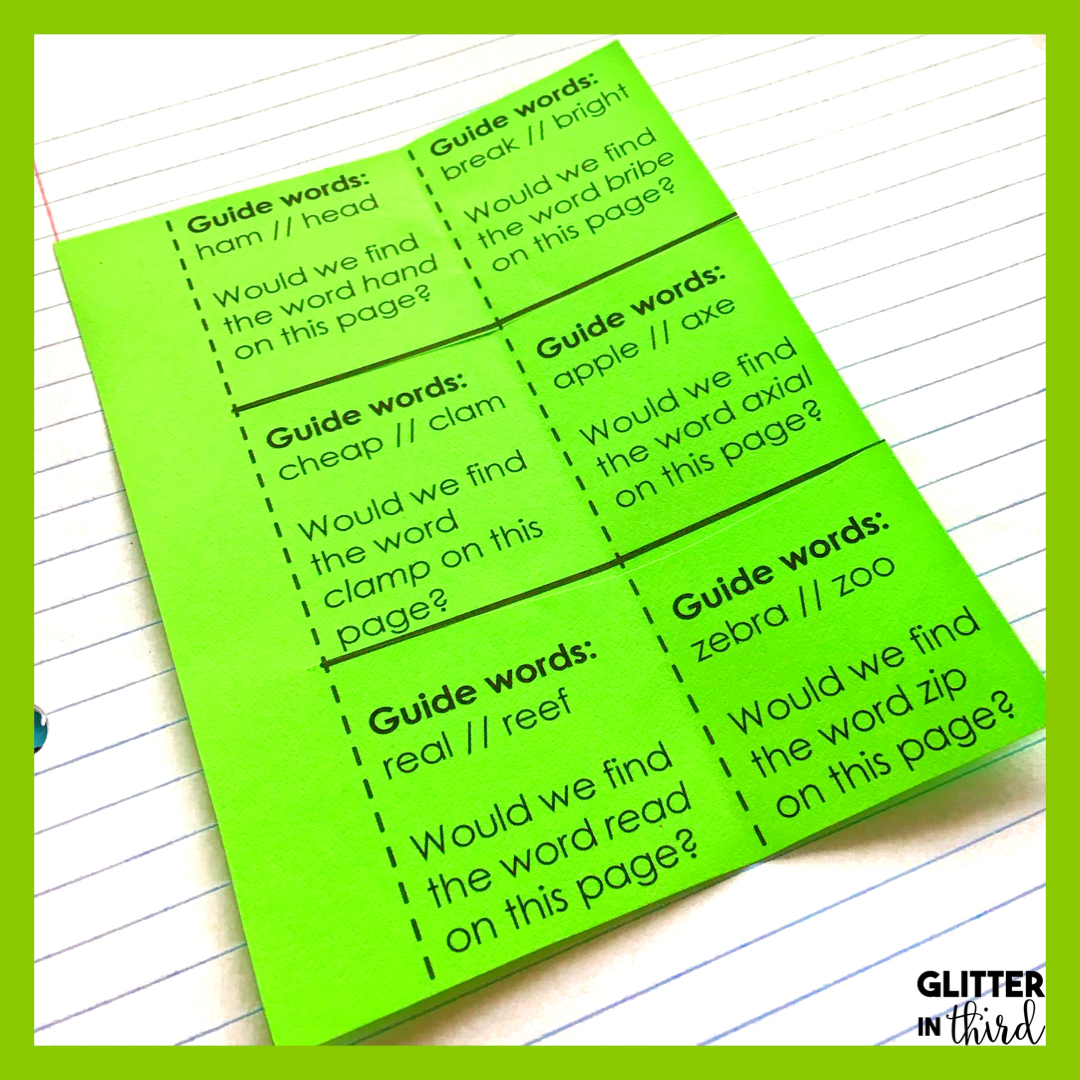 How to Conquer Teaching Dictionary Skills - Glitter in Third [ 1080 x 1080 Pixel ]