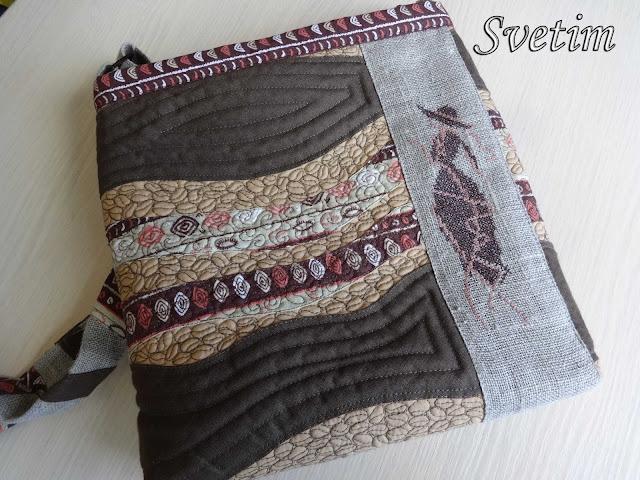 стильная сумка с вышивкой на ремне для девушки в подарок