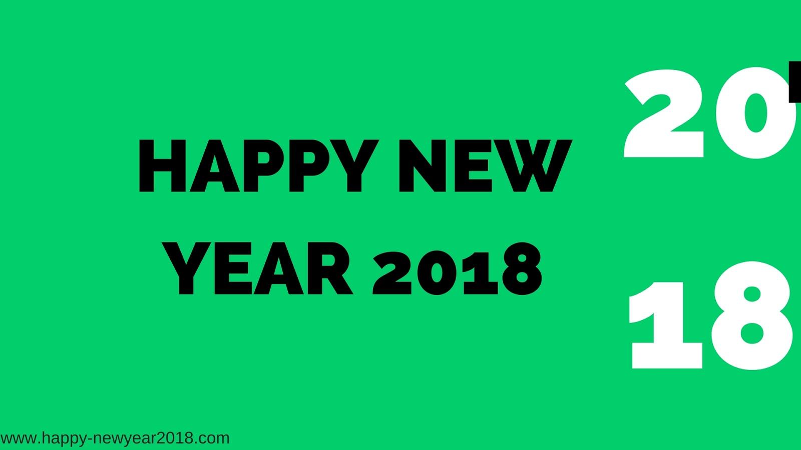 green happy new year 2018 wallpaper