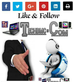 Techbmc social group likes and follow buttons With Email sub