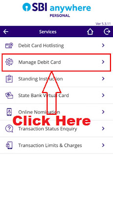 manage your sbi debit card