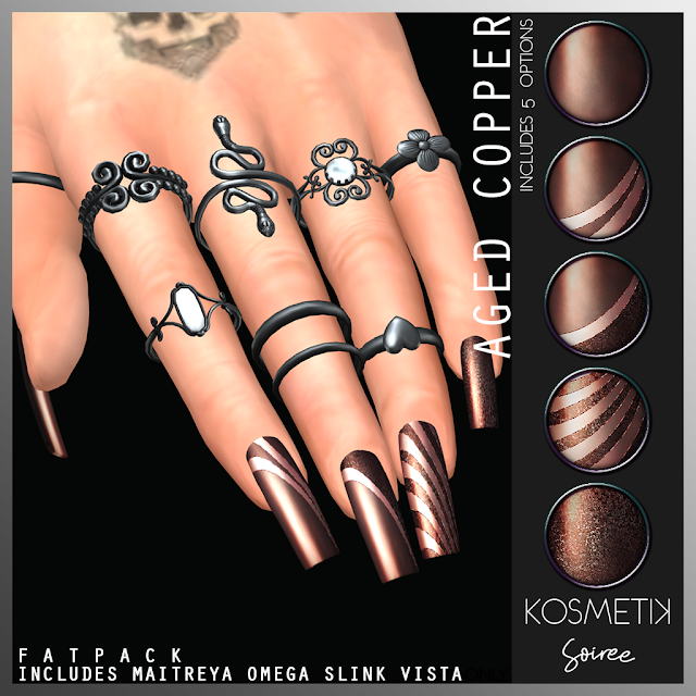 .kosmetik Soiree Aged Copper Nails