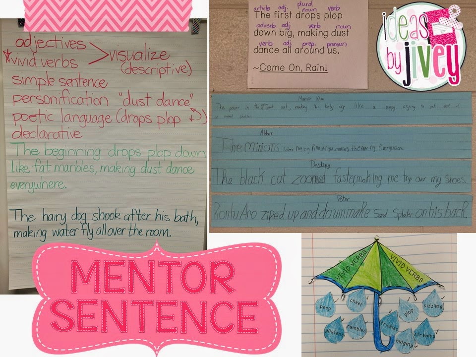 Come On, Rain and mentor sentences with Ideas by Jivey