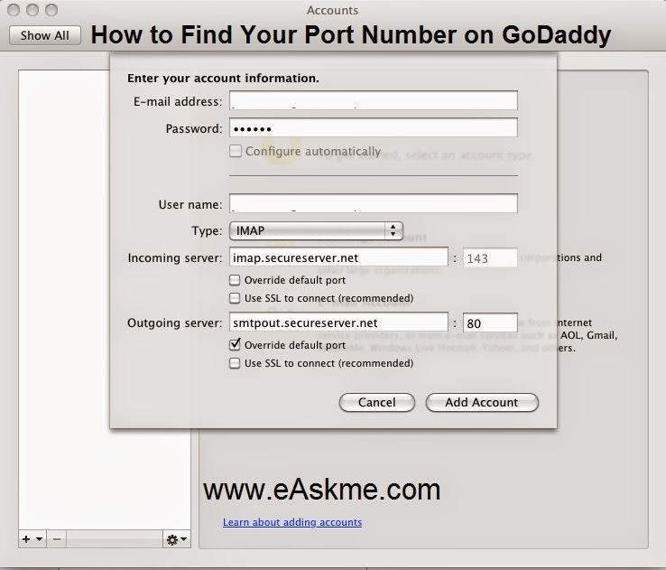 How to Find Your Port Number on GoDaddy: eAskme