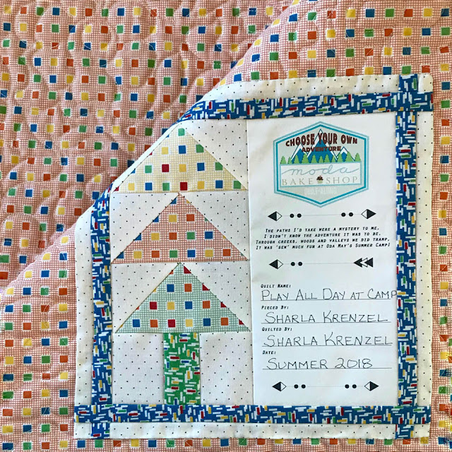 Play All Day At Camp Quilt From The Moda Bake Shop Choose Your Own Adventure QAL By Thistle Thicket Studio. www.thistlethicketstudio.com