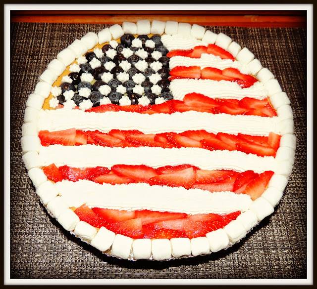 Memorial Day: Tarta Bandera Americana de Fresas y Arándanos