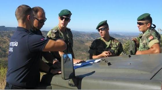 Exército Português patrulha Loulé no período crítico dos incêndios florestais