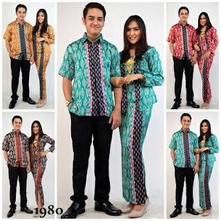 Model Baju Baju Batik Couple Seri Kode 1980