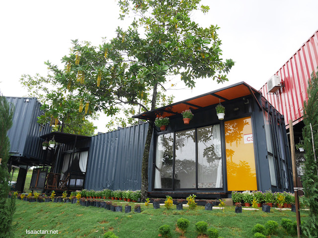 Chic looking, modern contemporary container styles accommodations at Nafas Cube