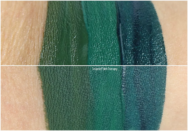 Left to Right: Jeffree Star Cosmetics - Crocodile Tears, Too Faced - Wicked, Kylie Cosmetics - Trick