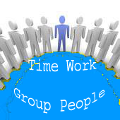 Group people Time and Work