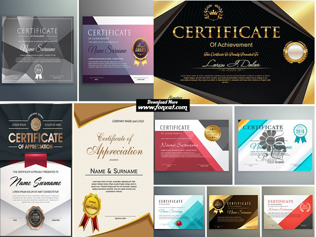 Download vector illustrations certificate templates with modern designs - Modern Certificate Design