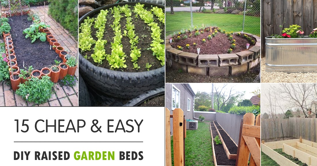15 cheap easy diy raised garden beds creative things - Build raised garden bed cheap ...