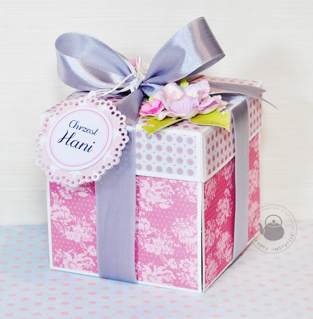 Pudełko na Chrzest dla dziewczynki