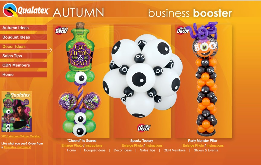 The Qualatex Autumn Business Booster Is A Great Place To Start To Find Our  Halloween Inspiration. Each Bouquet And Decor Design Can Be Enlarged,  Downloaded, ...