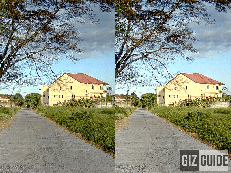 Normal vs HDR mode w/ yellowish saturation