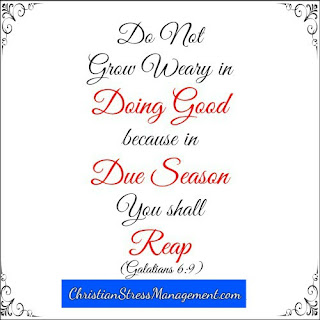 Do not grow weary in doing good because in due season you shall reap (Galatians 6:9)