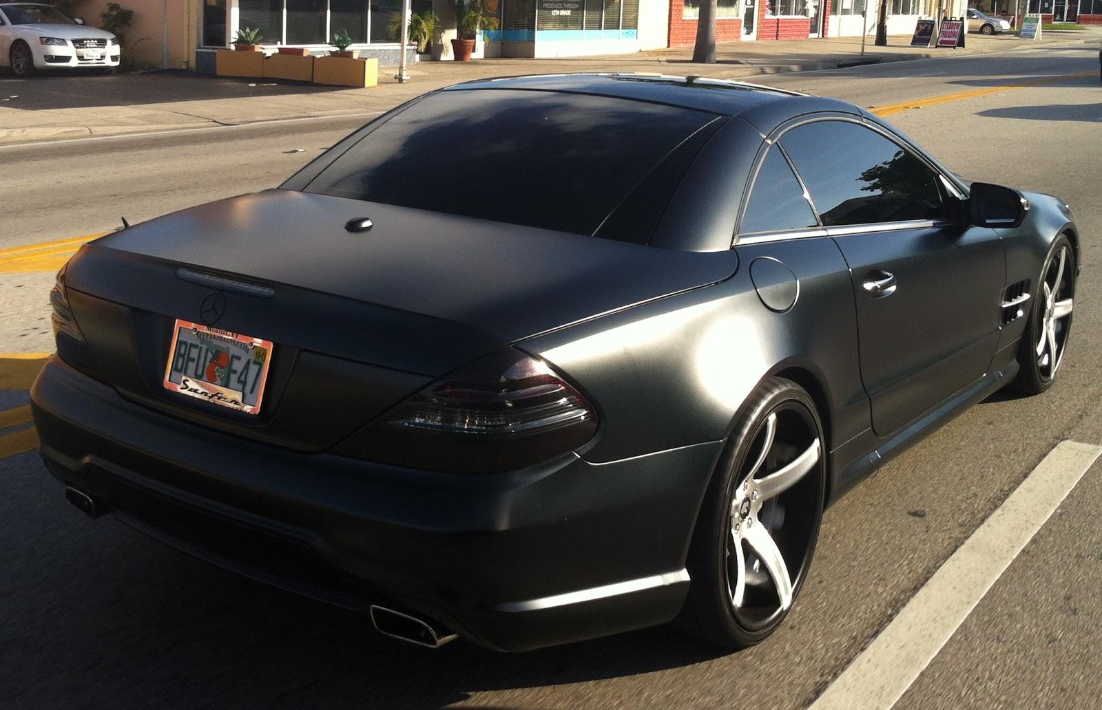 matte black mercedes sl 550 exotic cars on the streets of miami. Black Bedroom Furniture Sets. Home Design Ideas