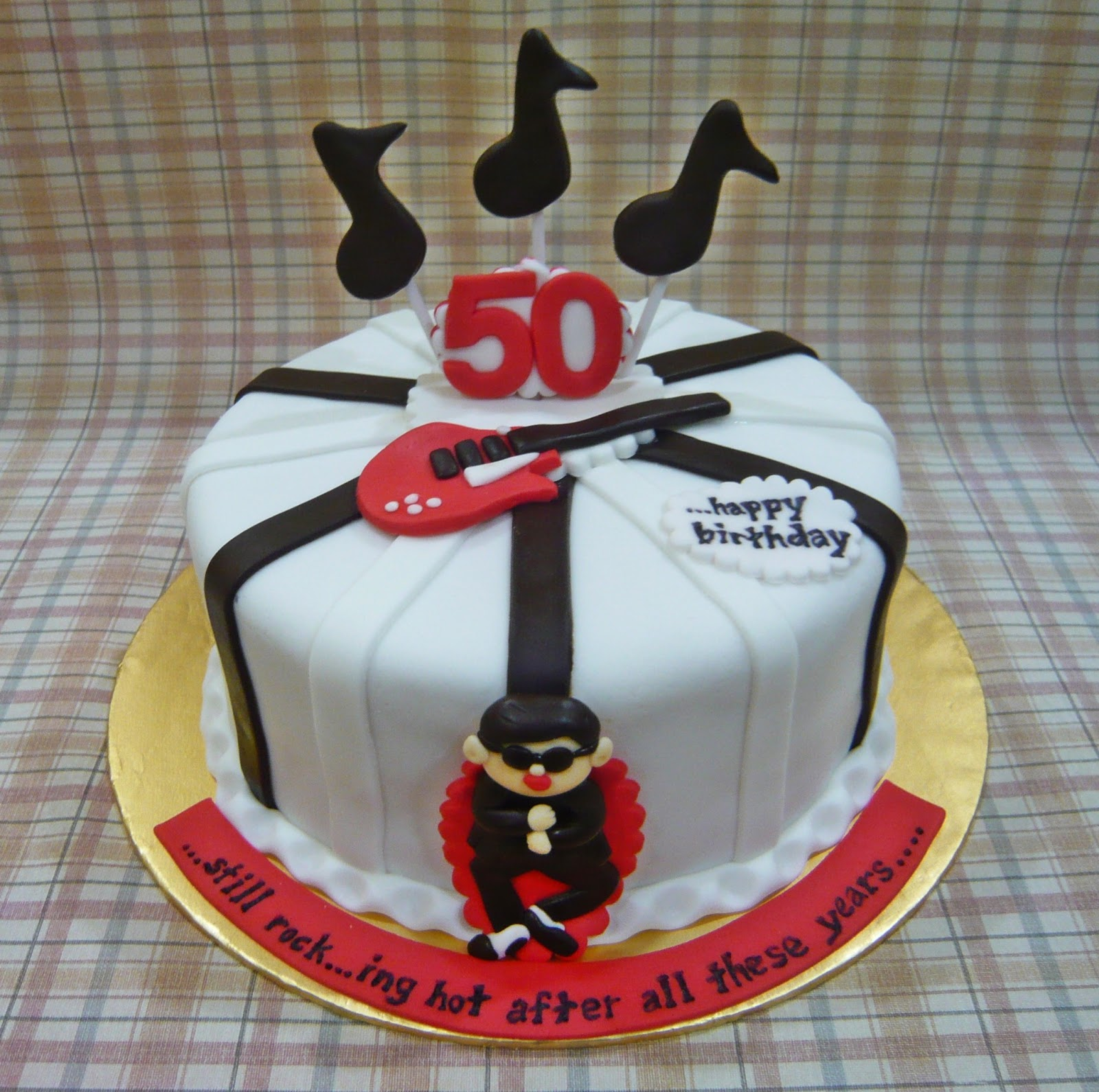 Music Theme 50th Birthday Cake