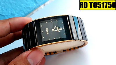 Đồng hồ Rado dây đá ceramic vàng RD T051750