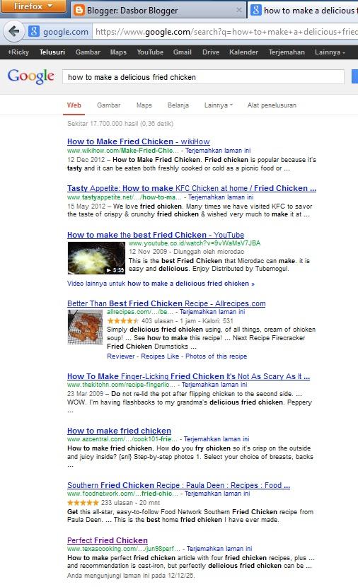 hasil percobaan Google plus dengan login