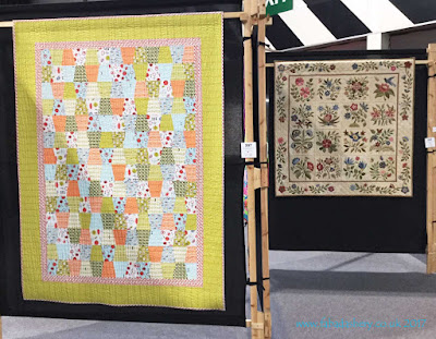Quilts by Natalie and Lynne on display at the Festival of Quilts 2017,  quilted by Frances Meredith at Fabadashery Long Arm Quilting