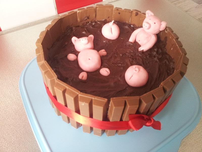 Die Hobbykochbacker Schweine Im Schlammbad Torte